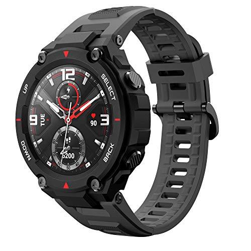 Angersi Sport Correa WristCorrea Compatible con amazfit t-Rex,Quick Release Soft Silicone Sport Strap Replacement Correa Compatible con amazfit t-Rex Smart Fitness Watch