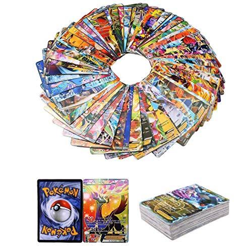 100 Piezas Pokemon Cartas, Pokemon Trading Cards, XY Series EX Cartas MEGA Cartas (80EX + 20Mega)
