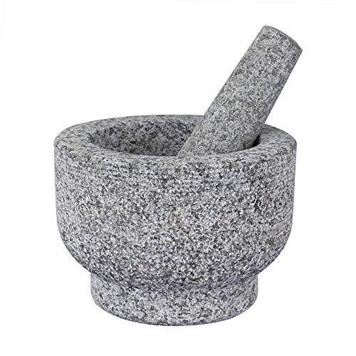 Grandma Shark Mortier Pilon, Mortiers et Pilons, Ensembles de mortier et pilon Pierre de granit solide de qualité supérieure (B-14cm-1 Pilon)