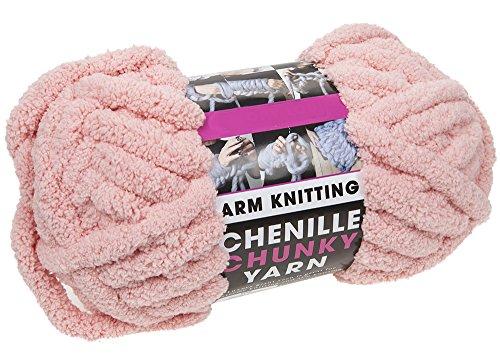 Chunky Arm Knitting Wool, 250G & 12,5 Metri, Taglio Soft Filato Extreme Knitting (Chenille...
