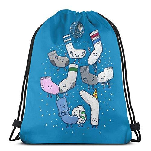 Yuanmeiju Lost Sock Party Shoulder Bolsa con cordón Backpack String Bags School Rucksack Gym Sport Bag Lightweight