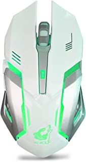 Clearance Sale!JPJ(TM)1Pcs Hot Creative Rechargeable X7 Wireless Silent Led Backlit USB Optical Ergonomic Gaming Mouse (Wh...