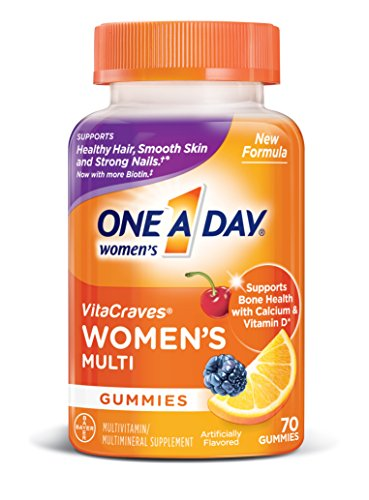 One A Day Women's VitaCraves Multivitamin Gummies, Supplement with Vitamin A, Vitamin C, Vitamin D, Vitamin E and Zinc for Immune Health Support*, Calcium & more, 70 count