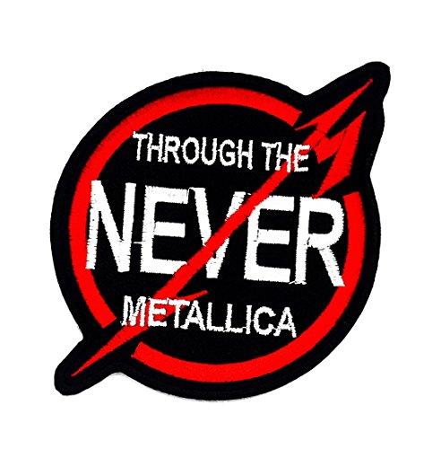 RABANA Door De Nooit Metallica woorden grappige patch voor DIY Applique Iron op Patch T shirt patch Naai ijzer op geborduurd badge teken kostuum