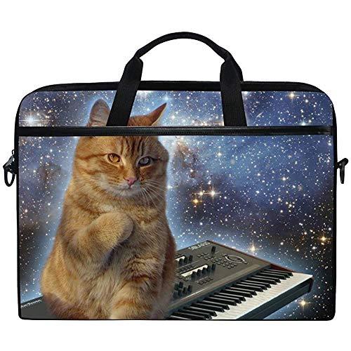 Sternenhimmel Orange Katze Tastatur Tastatur Sorgen Katzen Laptoptasche Umhängetasche Umhängetasche Umhängetasche Mit Schultergurtgriff,Für Sie Ihn,14-14,5 Zoll