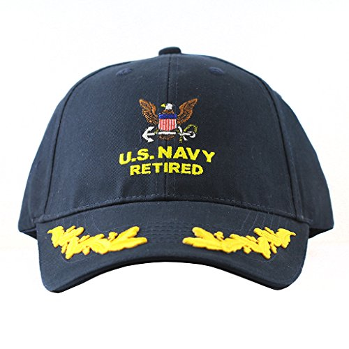 US Navy Retired Cap Scrambled Eggs United States Army Retired Hats Collectibles