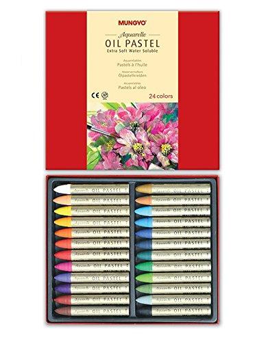 Preisvergleich Produktbild Mungyo Extra Soft Water Soluble Oil Pastels Set of 24 - Assorted Colors