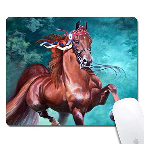Horse Gaming Office Mouse Pad ZTtrade Durable Customized Non-Slip Rubber Mouse Pad-Rectangle.