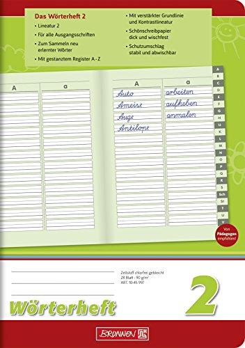 Brunnen 1045997 zeszyt słownikowy 2 (A5, 28 arkuszy, liniatura 2, z zakładką)