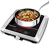 Techwood Hot Plate Electric Stove Single Burner Countertop Infrared Ceramic Cooktop, 1500W Timer and...