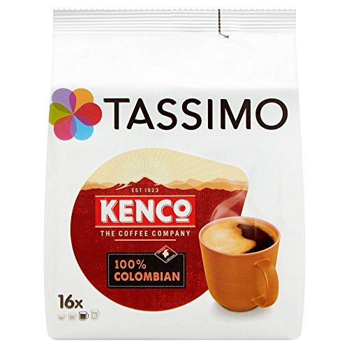 TASSIMO Kenco Colombian Kaffee Kapseln Pods Refills T Discs 5er Pack, 80 Getränke