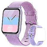 Dwfit Smartwatch,Reloj Inteligente Mujer Hombre Impermeable IP68 con Pulsómetro, Pulsera de Actividad Inteligente con Monitor de Sueño Contador de Caloría Podómetro para Android iOS