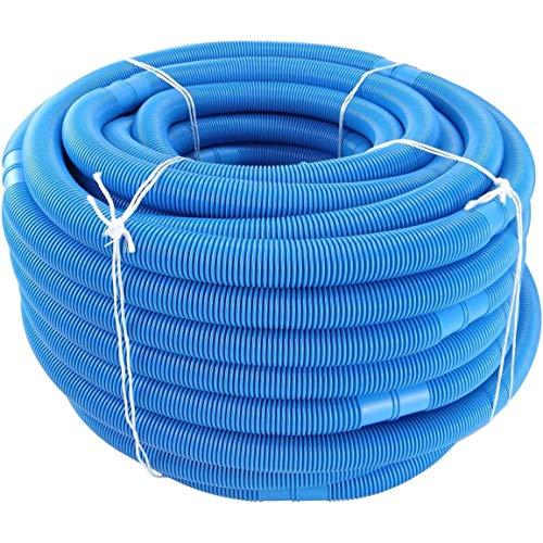 Bellaluee Manguera para Piscina Manguera de Agua Piscina y Piscina 32 mm de diámetro Longitud Total 6 m Resistente al Agua Ultravioleta y al Cloro