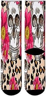 3 Pares Calcetines Estampados 3D Flower Cactus Paint Crew Men Blossom Pattern Vestido De Hombre Calcetines Largos Flower Sugar Skull Tube Socks
