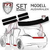 PR-Folia SET passend für - Touran II / 2 (Typ 5T ab 2015) Ladekantenschutz + Einstiegsleisten in SCHWARZ, Lack-Schutz-Folie
