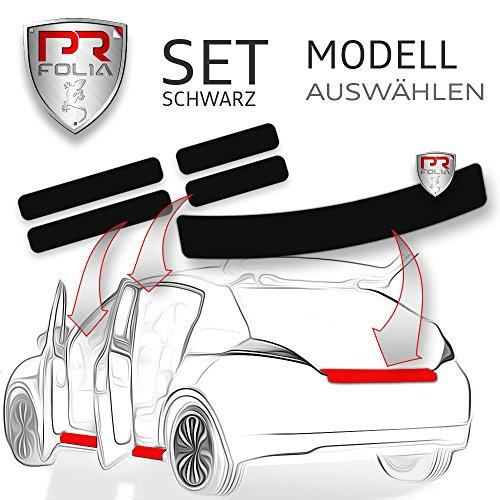 PR-Folia SET passend für - Yaris III (XP13, BJ 11/2011-2014) Ladekantenschutz + Einstiegsleisten in SCHWARZ, Lack-Schutz-Folie