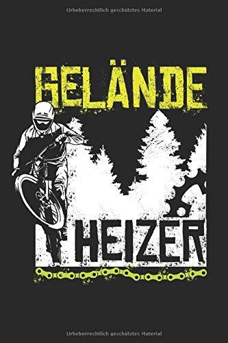Gelände Heizer: Mountain Bike Notizbuch für Mountainbiker, Mountain Bike und Downhill Fans [Punktkariert]