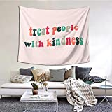 Tdilusso Treat People with Kindness Boutique Tapestry Wall Hanging Tapestry Vintage Tapestry Wall Tapestry Micro Fiber Peach Home Decor