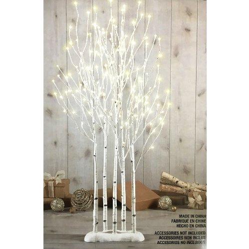 LED BIRCH TWIG TREES 1.3m クリスマスツリー 白樺 LED 175球 業務用 クリスマス 店舗装飾 店頭イベントの写真