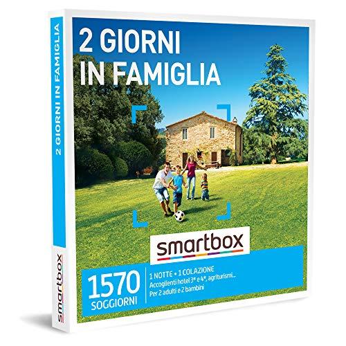 smartbox - Cofanetto Regalo - 2 Giorni in Famiglia - Idee Regalo - 1 Notte con Colazione per 2 Adulti e 2 Bambini