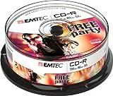 Emtec ECOC802552CB CD en Blanco CD-R 700 MB 25 Pieza(s) - CD-RW vírgenes (CD-R, 700 MB, 25 Pieza(s), 120 mm, 52x, Caja para Pastel)
