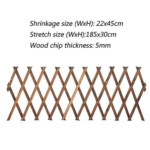 WXQ Gartenzaun Bildschirm Wanddekoration Extensible Garten Barrier Karbonisierung Holz Gitter, 7 Größen (Color : Brown, Size : 250X90CM)