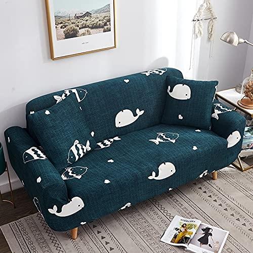 Toalla de sofá con Funda geométrica Rosa elástica Flexible, Funda de sofá Envuelta con Todo Incluido para sillón de sofá de Diferentes Formas A8 de 4 plazas