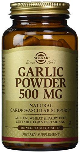 Solgar Garlic Powder 500 mg Vegetable Capsules