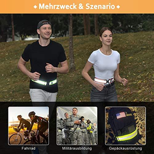 AYKRM 5 Farben Mehrere Farben Laufweste – Reflektierende Weste für Joggen, Reflektor gürtel pink Fahrrad | Atmungsaktiv & Leicht | Warnweste für Damen Herren (Pink, S-XXL) - 5