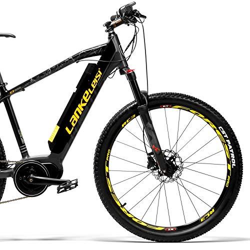 LANKELEISI GT800 Ville Adulte Vélo Électrique et Vélo Assisté 350W 48V Vélo de Neige 26 Pouces Vélo avec Bafang Centre Moteur