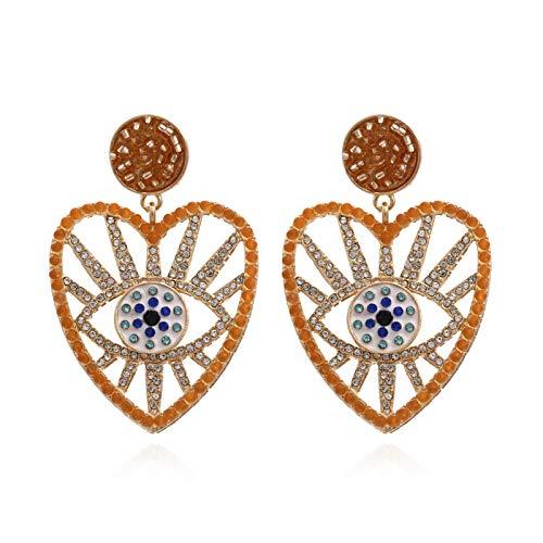 Lucky Meet Pendientes de ojo maligno de ojo azul CZ para mujeres y niñas, pendientes de boda con gota de ojo azul turco (caja de regalo)