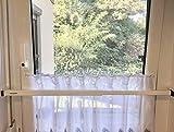 ERABOS® - Einbruchschutz [NEU 2020] Sicherungsstange für Fenster/Türen | MIT KIPPSTELLUNGS-SCHUTZ | 101-188cm | MASSIVER STAHL | weiß | auch in BRAUN erhältlich