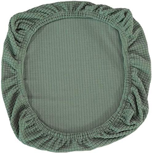 Yikko Fundas de asiento elásticas de spandex para sillas, lavables, para sillas de oficina, sillas de comedor, bar, decoración de bodas (verde)
