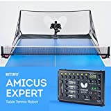 Butterfly Amicus Expert Table Tennis Robot—Fantastic Ball Launcher/Thrower/Shooter for Your Ping Pong Table—Free Remote and Carry Bag—Play Or Practice Ping Pong Anytime for As Long As You Want