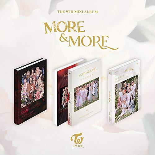 JYP Entertainment Twice - More & More (9th Mini Album) Album+Folded Poster+Extra Photocards Set (A+B+C ver. Set)