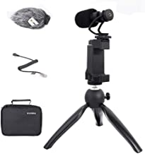 Comica Smartphone Video Recording Kit CVM-VM10-K2 Microphone Handheld Holder with Mini Tripod Shotgun Video Microphone Video Rig Compatible for iPhone X 8Plus 8 7Plus 7 Samsung Huawei P30 Xiaomi etc