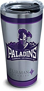 Tervis Furman Paladins Tradition Insulated Travel Tumbler with Lid, 20oz - Stainless Steel, Silver