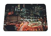 22cmx18cm マウスパッド (シンガポール超高層ビルメトロポリス夜) パターンカスタムの マウスパッド