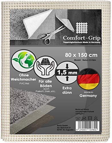 Comfort-Grip Premium Anti-Rutsch Teppichunterlage I für Parkett geeignet I ohne Weichmacher I Teppichunterleger I Rutschschutz für Teppich I Teppichstopper
