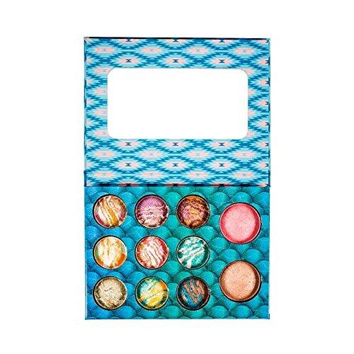 BH Cosmetics Wild & Alluring Baked Eyeshadow & Highlighter Palette, 0.3 Pound