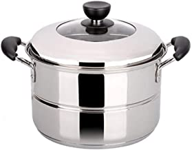 LJBH Cooking Pot,suitable For Home Kitchen, Single-layer Stainless Steel Steamer Set, Gas Stove Induction Cooker Universal...