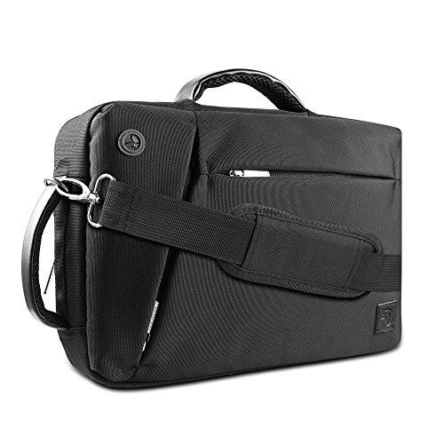 Vangoddy Unisex 17 Inch Nylon Hybrid Laptop Shoulder Bag Backpack Briefcase for HP Envy, Omen, Pavilion, ProBook, ZBook Series 17.3 inch Laptop, Black