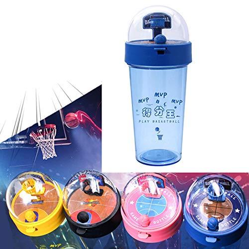 """Botella de Agua de Baloncesto """"I Am MVP"""" ,A Prueba de Fugas,Sin BPA, Botella Bebidas Viajes Deportes,500ml/17oz Drink Bottle For Kids Niños Estudiantes Azul"""