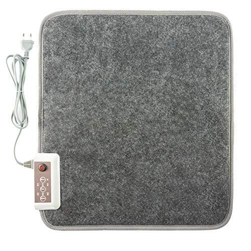 clasificación y comparación 50 x 55 cm, 55 ° C, gran alfombra de entrada eléctrica, calienta pies con aislamiento radiante para casa