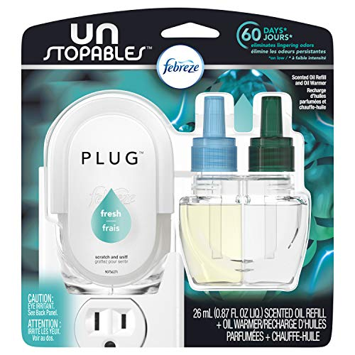 Febreze Unstopables Fresh Pluggable Scented Oil Refill with Warmer Air Freshener (1 Count, 0.87 Oz) -  3700091148