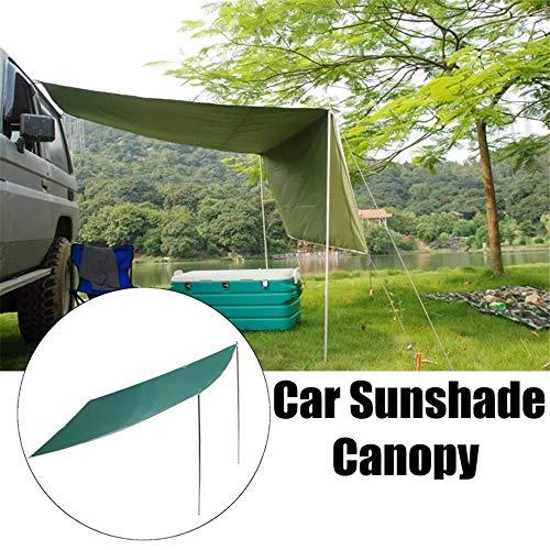 Pettneeds 2,8 x 1,8 m Sonnenschutz-Zelt Auto Outdoor-Camping-Dachzelt Folding Anti-UV-Car Canopy Mit Galvanotechnik Metall Runde Rod (Farbe : Grün, Größe : 2.8 × 1.8m)