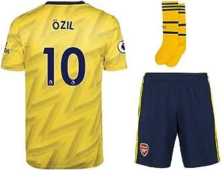 2019-2020 Arsenal Mesut Ozil #10 Kids/Youths Away Soccer Jersey & Short & Socks Kit Yellow