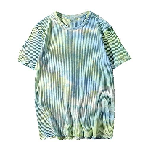 Camiseta casual de verano para mujer, manga corta, cuello redondo, camiseta de los hombres