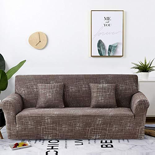 Funda de sofá elástica Estirada Envoltura Ajustada Fundas de sofá Todo Incluido para Sala de Estar Funda de sofá Silla Funda de sofá A12 2 plazas