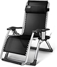 High-quality recliner Deckchair Sun Lounger Patio Chairs Reclining, Outdoor Garden Beach Lawn Recliner, Camping Adjustable Portable Chair, Support 200kg (Color : Silver)